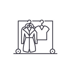 wardrobe line icon concept wardrobe linear vector image