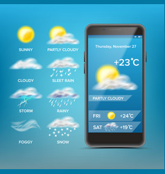 weather forecast app good for use in vector image