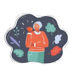 woman eat apple vector image
