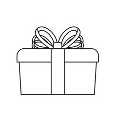 wrapped gift box on white background vector image