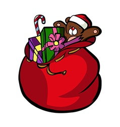A present pack is placed vector image