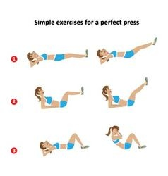 a set of exercises for a slim figure vector image vector image