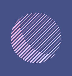 abstract striped round shape in retro style vector image vector image