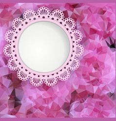 Beautiful card with a background of roses vector image vector image