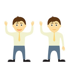 Business man characters vector image
