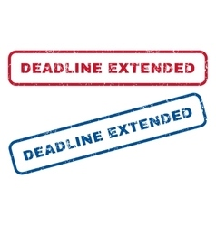 Deadline Extended Rubber Stamps vector image vector image