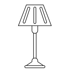 floor lamp decoration thin line vector image