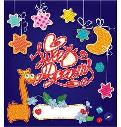 sweet dreams 380 vector image