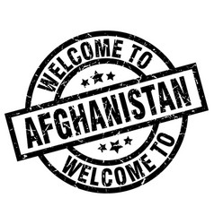 welcome to afghanistan black stamp vector image