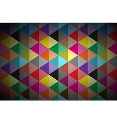 Abstract background colored triangle vector image vector image