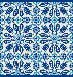 arabesque lace damask seamless floral pattern vector image vector image