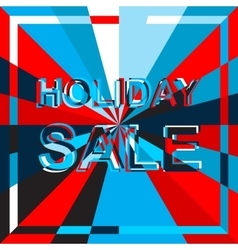 Big ice sale poster with holiday sale text vector