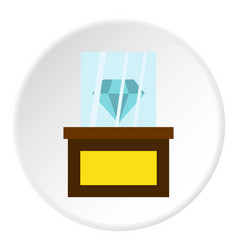 diamond on a pedestal icon circle vector image