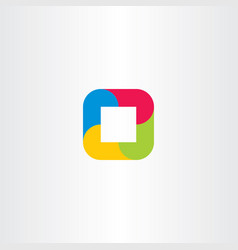 gometric logo abstract square business icon vector image vector image