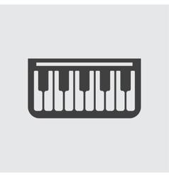 Piano icon icon vector image