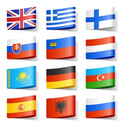europe flags vector image