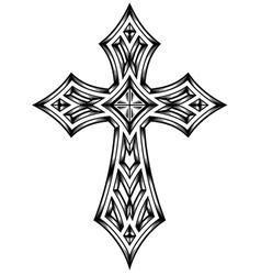 Heraldic cross vector image vector image