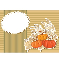 pumpkin sticker background vector image vector image