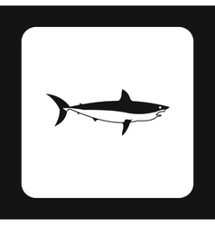 Shark icon in simple style vector image