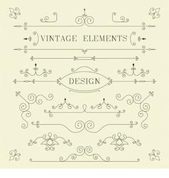 Vintage Design Borders Retro Elements Frame Ve vector image