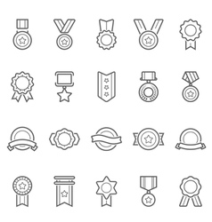 Badge Awards icons set vector image vector image