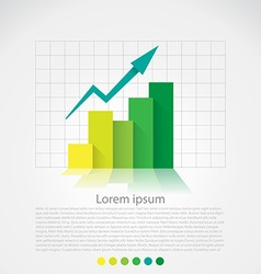 Flat design chart vector image vector image