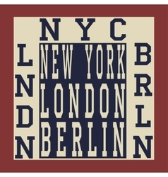 New york berlin london vector