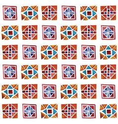Watercolor Geometric Pattern vector image