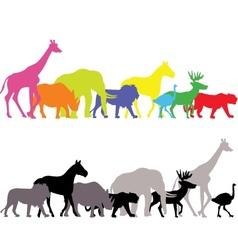 wild animal silhouette vector image