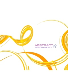 Yellow abstract ribbons background vector image