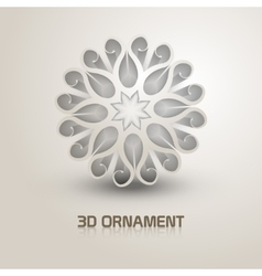 3d Ornament shape icon Trendy shape with shadows vector