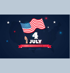 4 july usa independence day flyer banner or vector