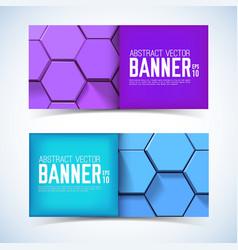 abstract geometric horizontal banners vector image