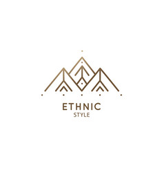 Abstract sacred symbol mountain pyramides logo vector