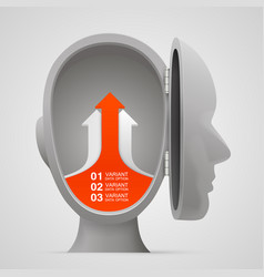 arrows business growth in the open head vector image