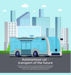 autonomous unmanned vehicle composition vector image