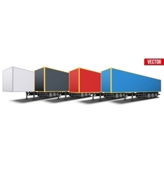 Banner of parked semi trailers vector image