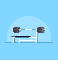 bench press rack vector image