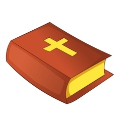 Bible icon cartoon style vector image