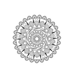 Black and white mandala vector
