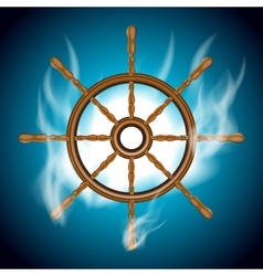Boat wheel vector