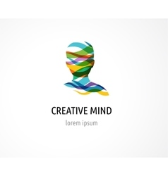 Brain Creative mind man head learning icons vector image
