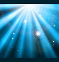 Bright blue light rays background vector