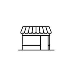 building shop outline icon element of vector image