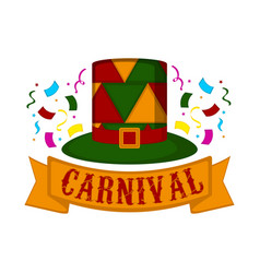 carnival hat with party ornaments vector image