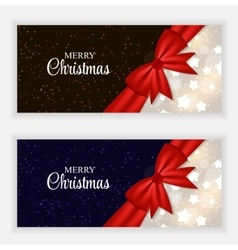 Christmas Gift Card Set vector image