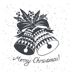 Christmas sketch with bells vector image