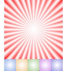 Colorful starburst sunburst background set vector