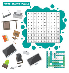 colorless crossword education game for vector image