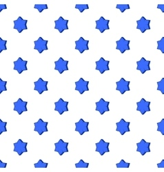 Convex star pattern cartoon style vector